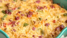Ham and Cheese Hash Brown Breakfast Casserole