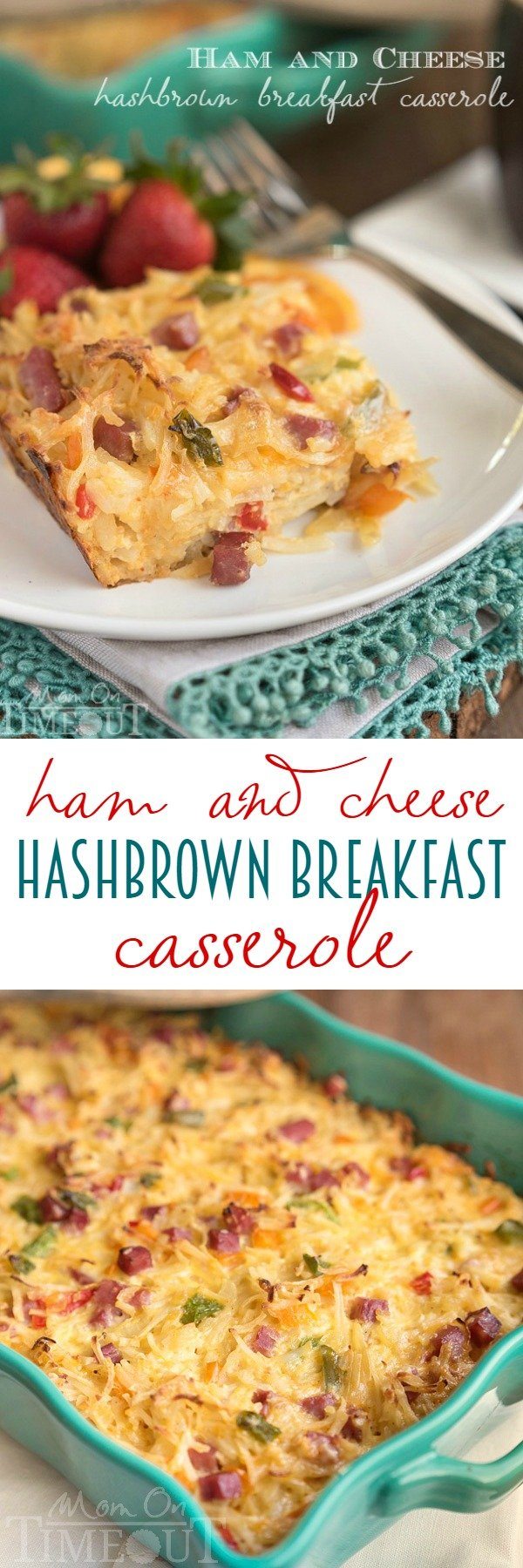 An easy overnight breakfast casserole that can be made in your slow cooker with layers of hash browns, cheese, and breakfast sausage.
