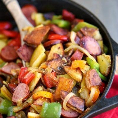 Kielbasa, Peppers, and Potato Hash