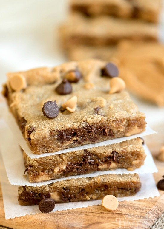 Perfectly moist, decadent, and fudgy, these sinful Peanut Butter Chocolate Chip Brownies will redefine your love for peanut butter.   MomOnTimeout.com