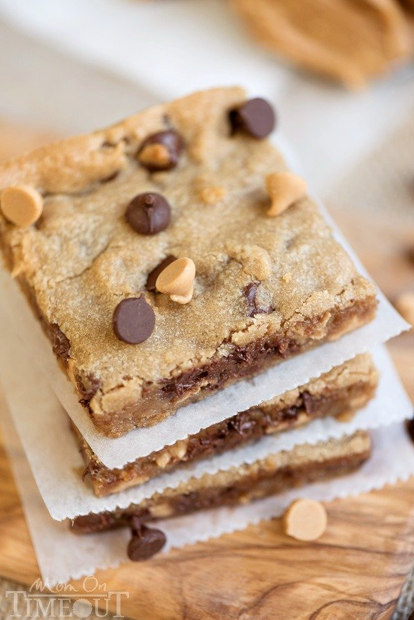 Peanut Butter Chocolate Chip Brownies {Mom on Timeout}