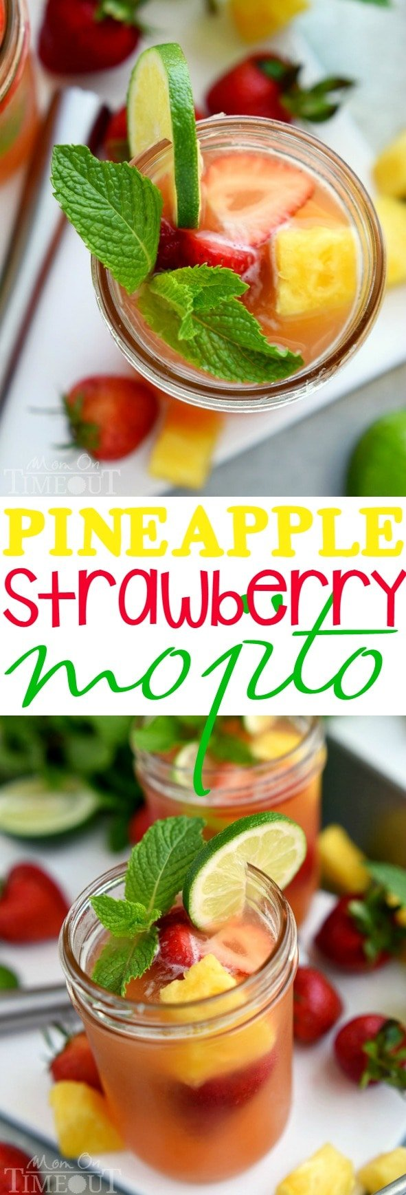 Strawberry-Pineapple-Mint Juice Recipe — Dishmaps