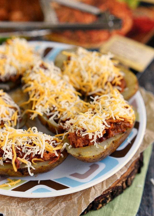No-Fry Spicy Potato Skins Recipe — Dishmaps