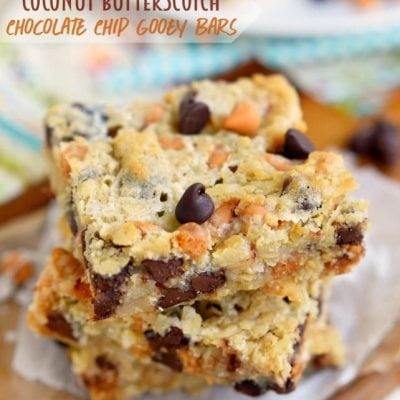 Coconut Butterscotch Chocolate Chip Gooey Bars