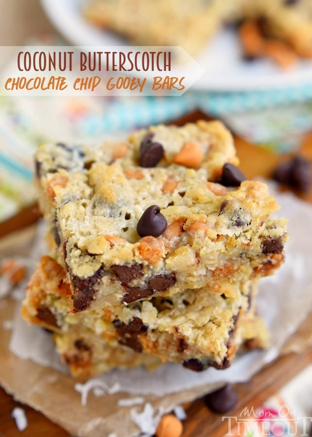 Coconut Butterscotch Chocolate Chip Gooey Bars Mom On