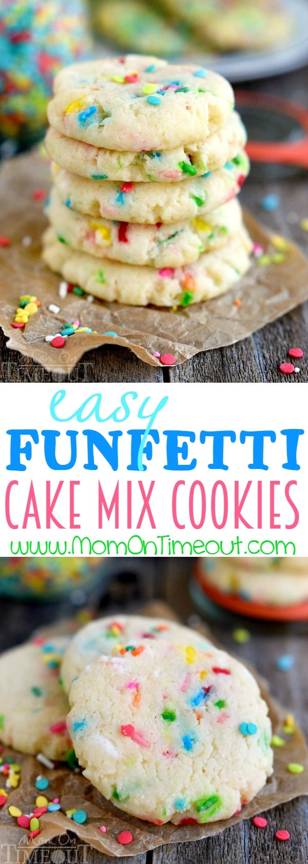Easy Funfetti Cake Mix Cookies Mom On Timeout