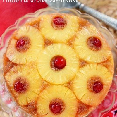 Microwave Pineapple Upside Down Cake