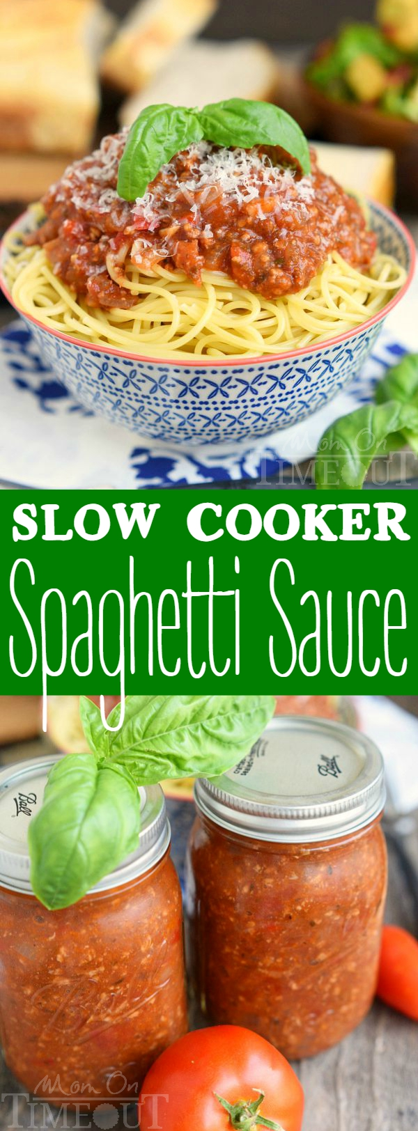 This Slow Cooker Spaghetti Sauce is the perfect dinner solution for busy weeknights! Easy and delicious!