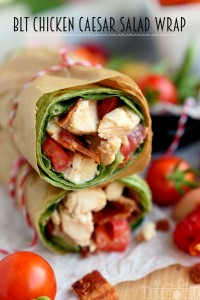 Blt Chicken Caesar Salad Wrap Mom On Timeout