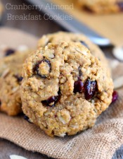 Cranberry Almond Breakfast Cookies