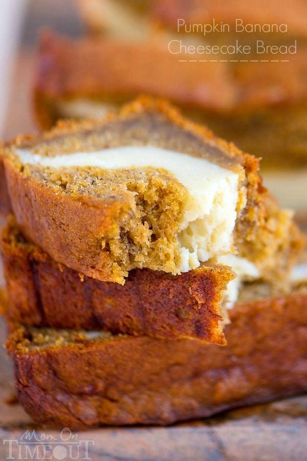 Pumpkin Cheesecake Banana Bread