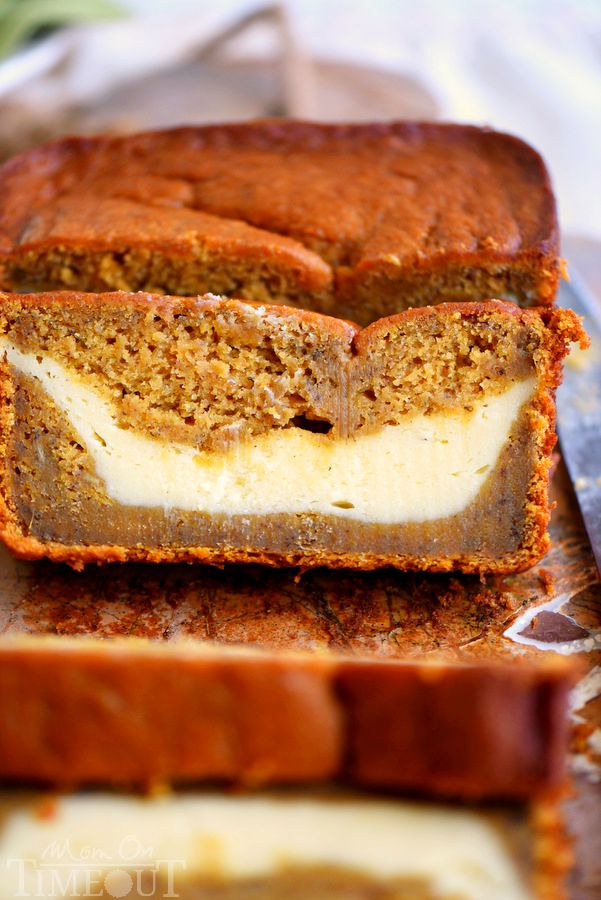 This Pumpkin Cheesecake Banana Bread is perfect for dessert but also ...