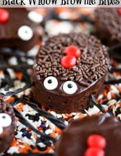 Black Widow Brownie Bites