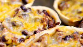 Cheesy Beef and Black Bean Enchilada Boats