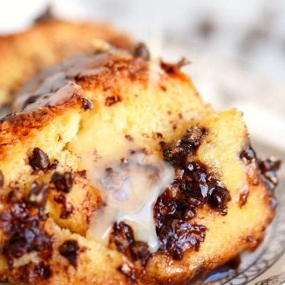 Chocolate Bread Pudding with Salted Caramel Sauce