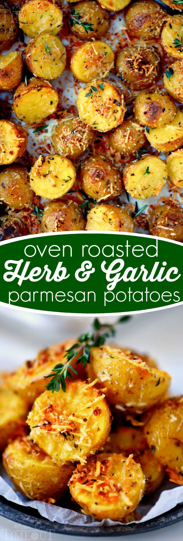oven-roasted-herb-garlic-parmesan-potatoes-recipe-collage