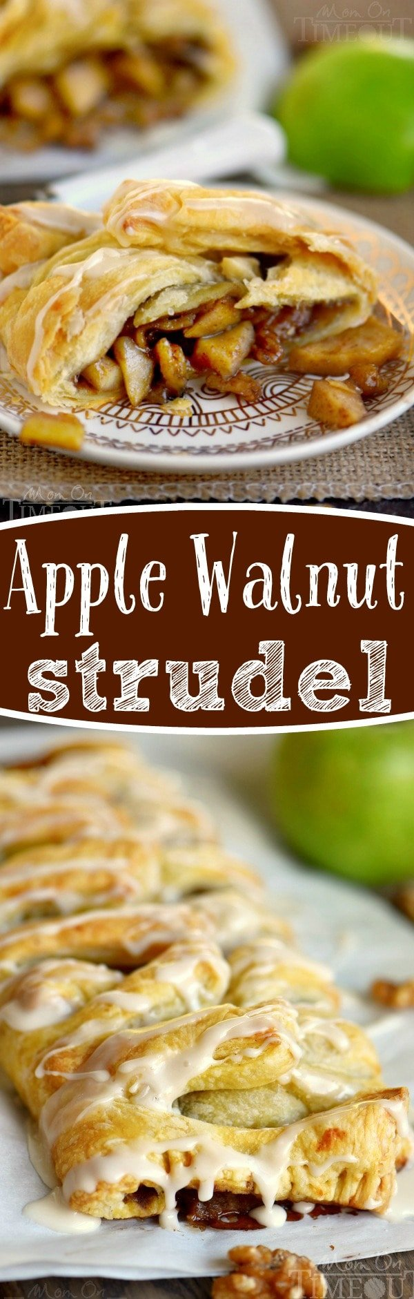 This easy Apple Walnut Strudel is the BEST way to wake up this fall! Perfect for breakfast, brunch or even dessert, this sweet treat is impossible to resist!
