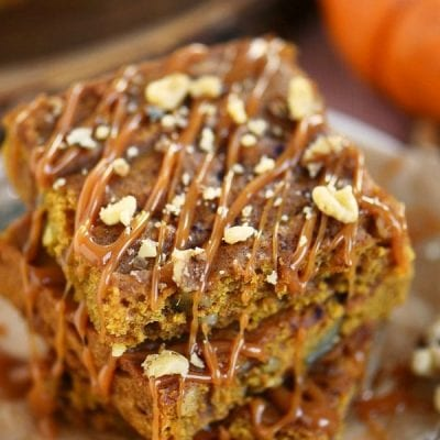 One Bowl Caramel Pumpkin Blondies