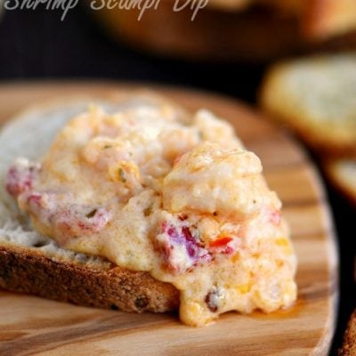 Roasted Red Pepper Shrimp Scampi Dip