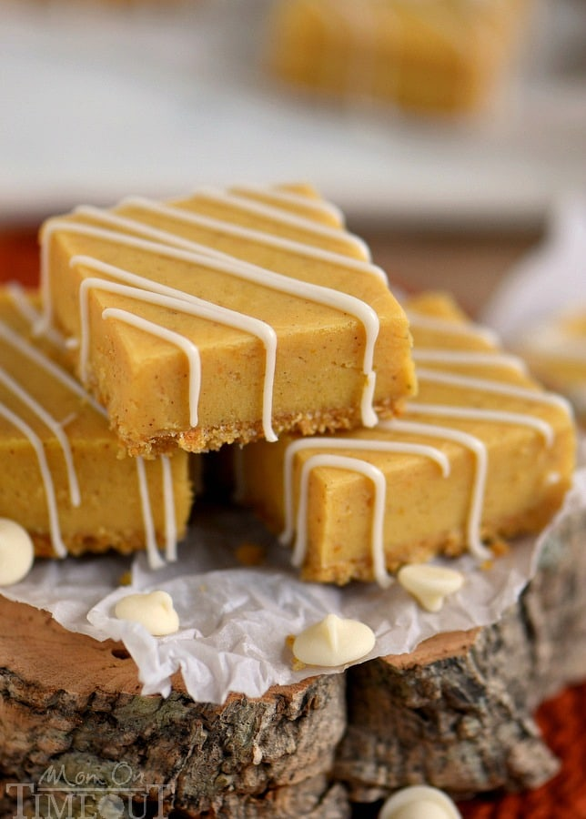 This delightful White Chocolate Pumpkin Pie Spice Fudge is made with real pumpkin, is sitting on a graham cracker crust and is topped with a white chocolate drizzle - perfection! Be sure to make a batch for friends and family this year!