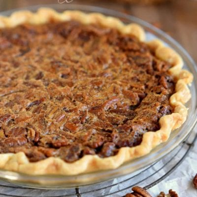 Brown Butter Brown Sugar Pecan Pie