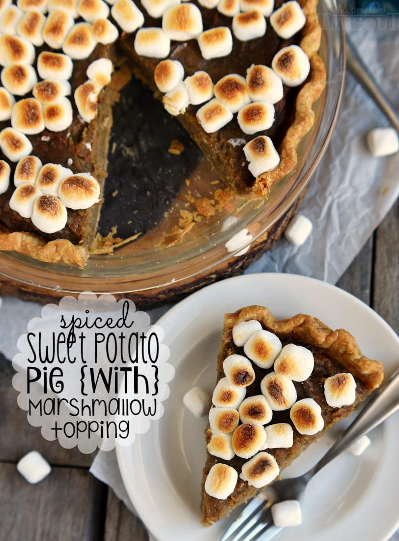 A classic pie with a sticky sweet update...Spiced Sweet Potato Pie with Marshmallow Topping! This easy and DELICIOUS pie needs to make it onto YOUR holiday menu!