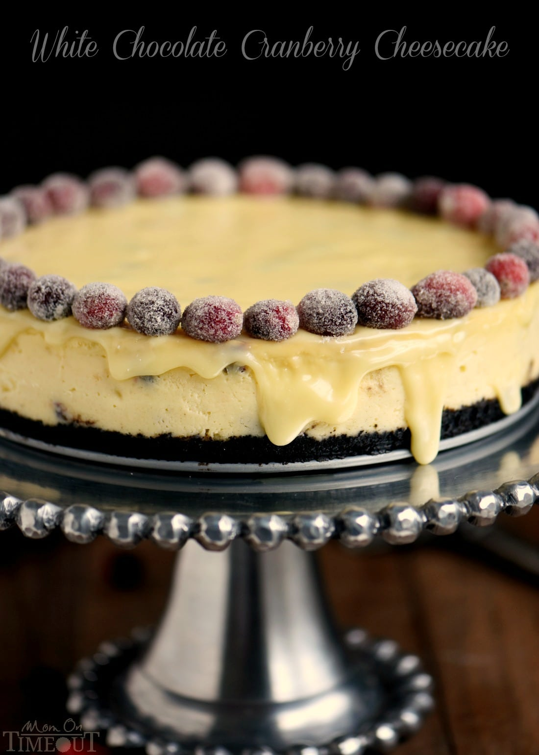 White Chocolate Cranberry Cheesecake Mom On Timeout