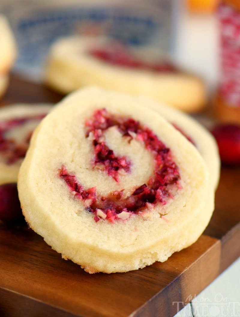 These delightful Cranberry Pecan Pinwheel Cookies are bound to become a new favorite for your family! So easy to make and packed with the refreshing flavors of cranberries, orange, and pecans!