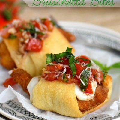 Parmesan Shrimp Bruschetta Bites