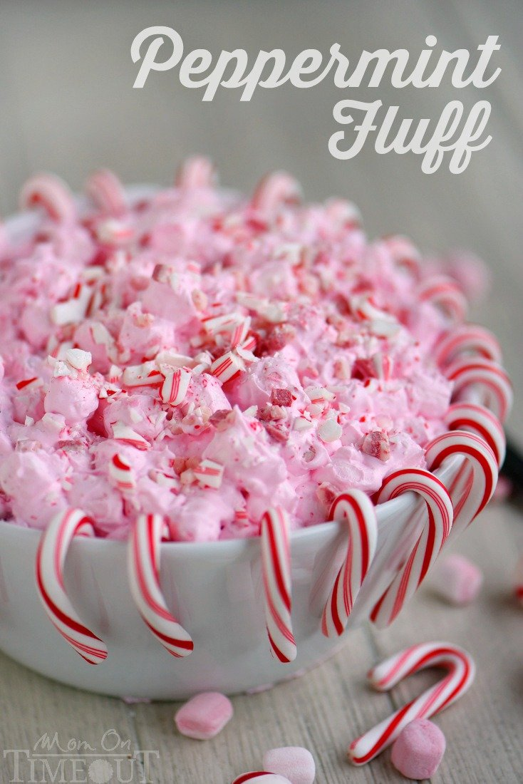 I've got the prettiest, two minute dessert you're going to make all holiday season long for you today! This Peppermint Fluff has just four ingredients and will disappear as quickly as you can make it. Double the recipe for a crowd!