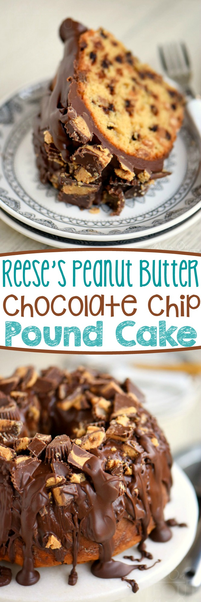 outrageously decadent Reese's Peanut Butter Chocolate Chip Pound Cake ...