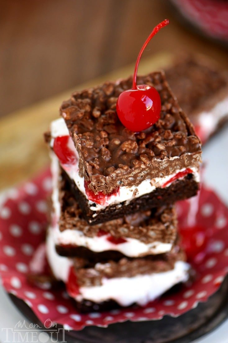 These Cherry Brownie Dream Bars are sure to become your new favorite thing. From the fudgy brownie base to the crunchy topping - every bite of these bars is like a dream come true!
