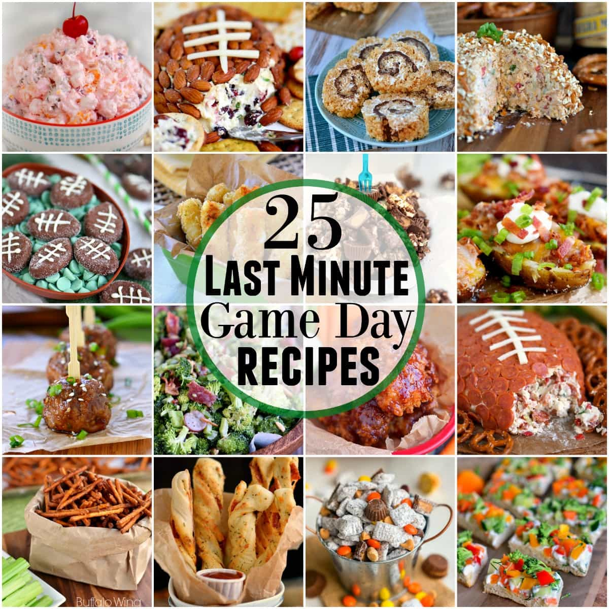 For those of you who procrastinate like I do - 25 Last Minute Game Day Recipes that require minimal ingredients and time! Sweets, savory, snacks - you'll find it all here!