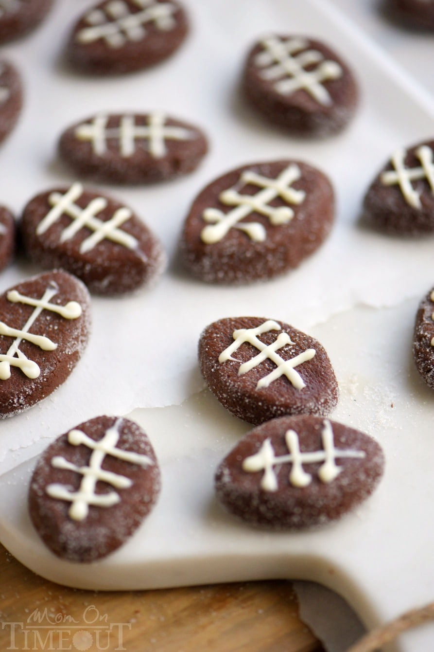 Sweet and easy Chocolate Football Patties are the PERFECT addition to your game day celebration! Delicious and fun - this game day treat will always be a top pick!