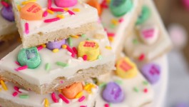 Conversation Heart Sugar Cookie Bark
