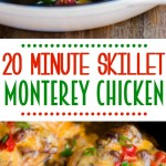 skillet-monterey-chicken-recipe-20-minutes-collage