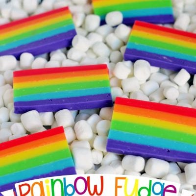 Easy Rainbow Fudge