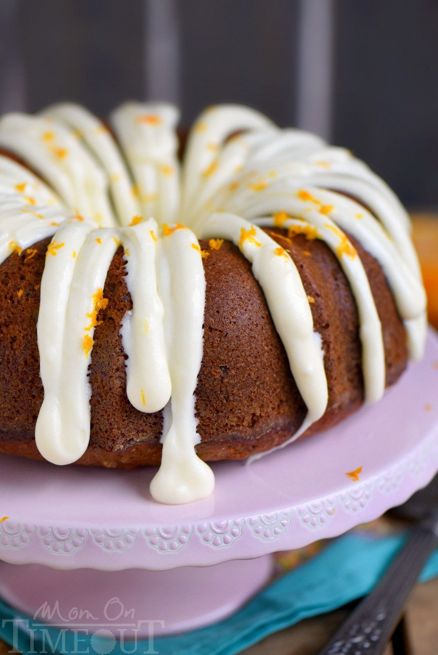 Hummingbird Bundt Cake with Cream Cheese Glaze will be the star of your party! This delightfully moist cake is made with bananas, pineapple, pecans and spiced with cinnamon, cloves and nutmeg - every bite of this easy cake is pure bliss!