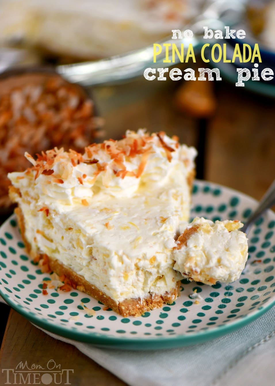 Pina Colada Cream Pie