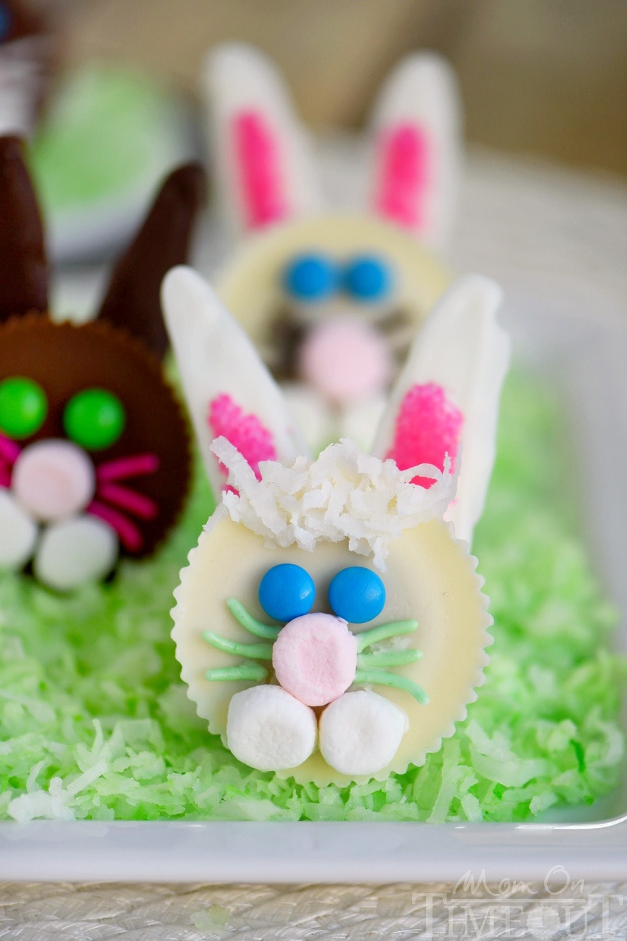 Nothing says Easter fun like these adorable Reese's Easter Bunnies! My two boys helped me make these tasty little treats and they are almost too cute to eat!