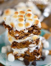 5  Minute S'mores Cereal Bars