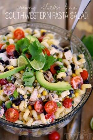 creamy-cilantro-lime-southwestern-pasta-salad