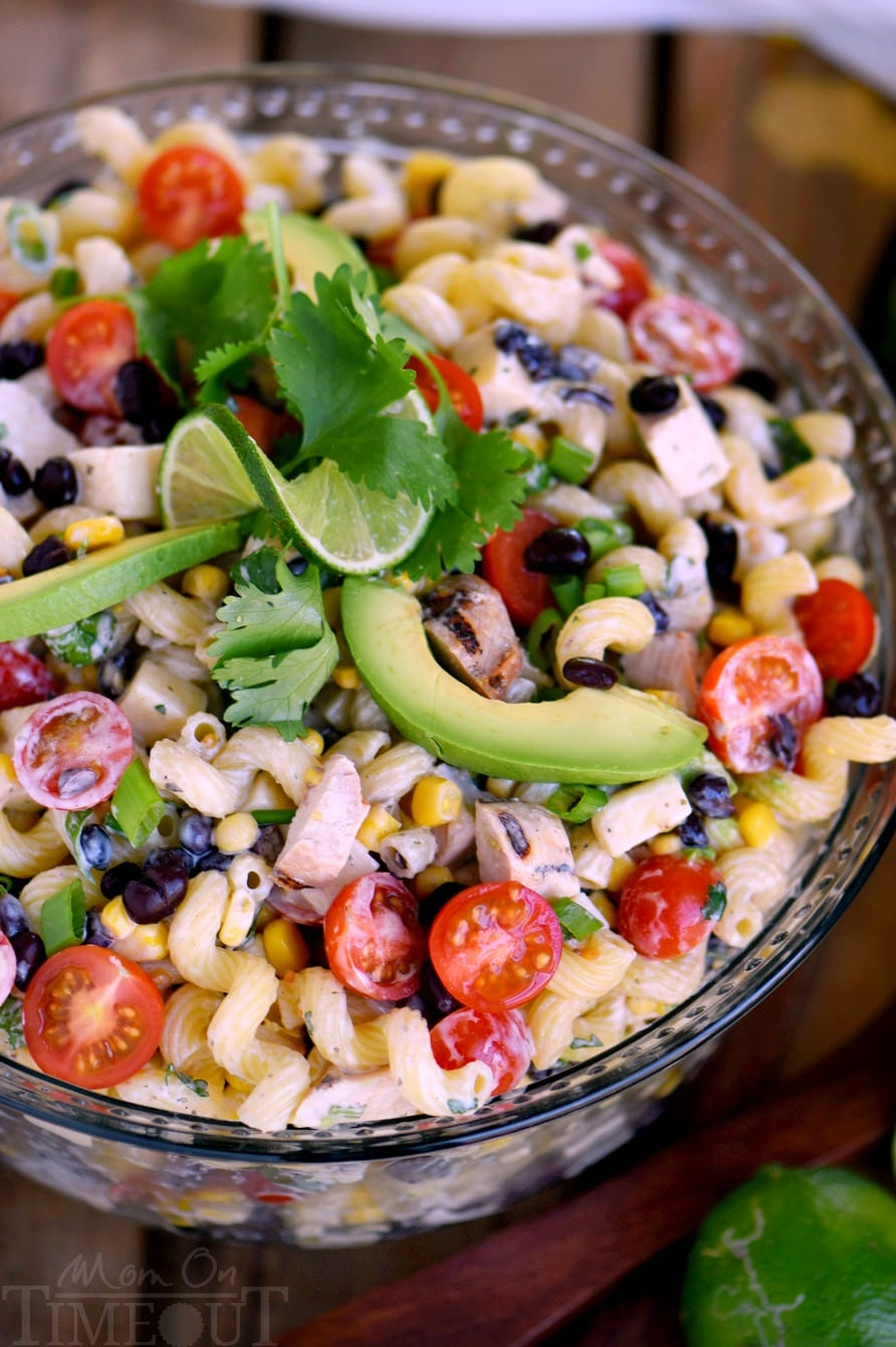 Salad Ideas For Dinner Party Part - 24: This Creamy Cilantro Lime Southwestern Pasta Salad Recipe Is Satisfying  Enough For An Easy Dinner Or