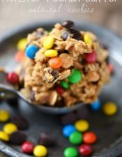 Monster Peanut Butter Oatmeal Cookies