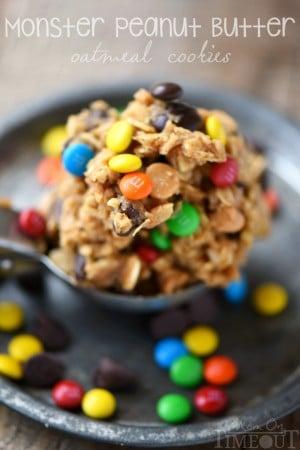 monster-peanut-butter-oatmeal-cookies-dough-title