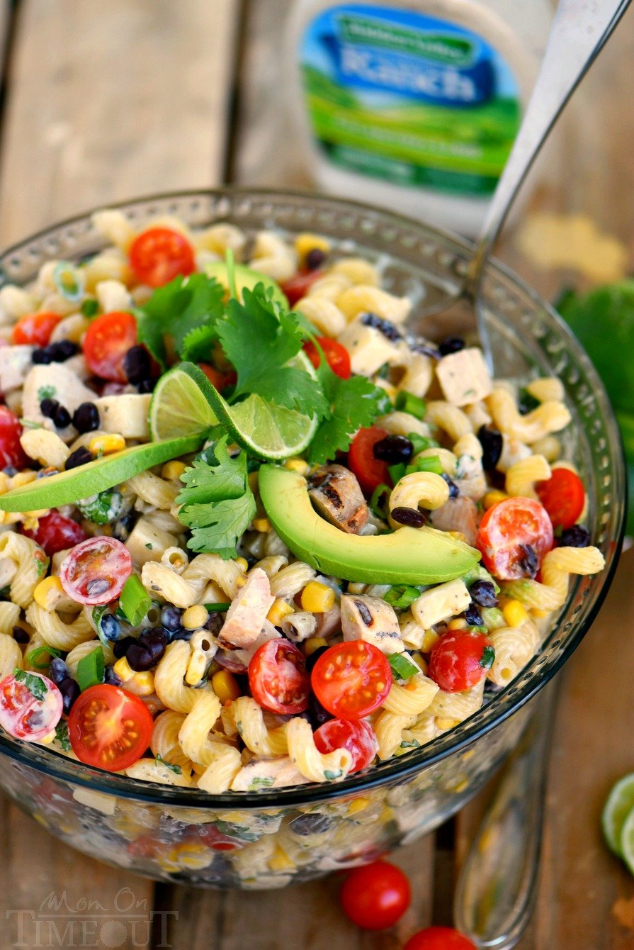 Creamy Cilantro Lime Southwestern Pasta Salad Mom On Timeout