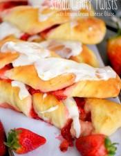 Strawberry Twists with Lemon Cream Cheese Glaze
