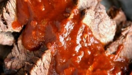 Beef Brisket with Dr Pepper Barbecue Sauce