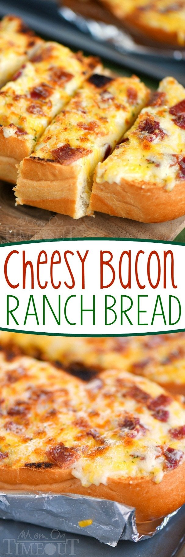 I've put all your favorites together in this fantastic and easy Cheesy Bacon Ranch Bread! Make it in the oven or on grill - it's your choice! A tasty addition to any meal!