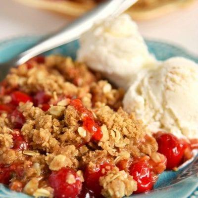 Easy Cherry Almond Crisp